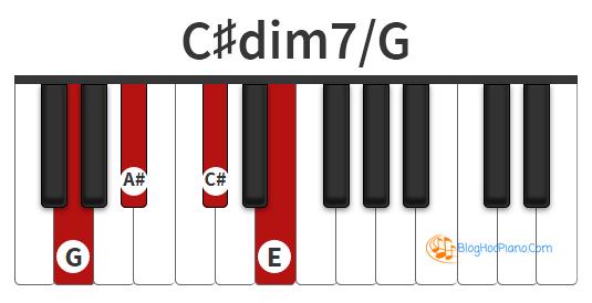 Hợp âm Đô thăng dim7 | C#dim7 chord piano | c#dim7 piano chord | c