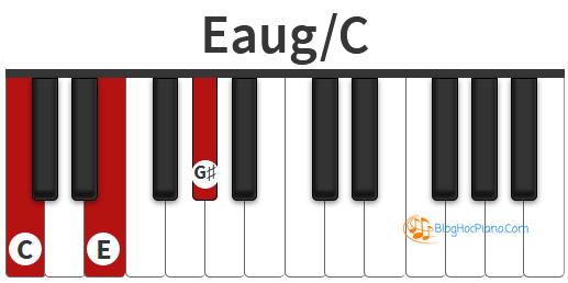 Trên đàn phím Piano, chúng tôi chuyển đổi B# = C để các bạn dễ dàng hình dung và nắm bắt hợp âm tốt hơn.