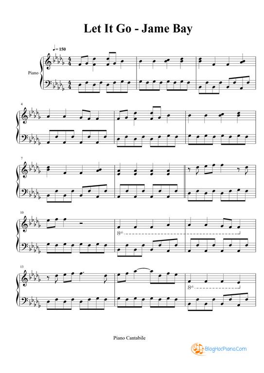 Let it go piano sheet music