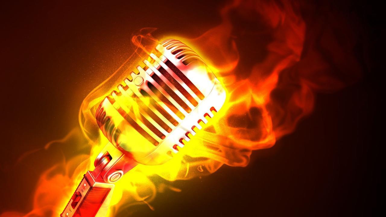 1920x1080 Fire-Microphone-HD-Music-Wallpaper