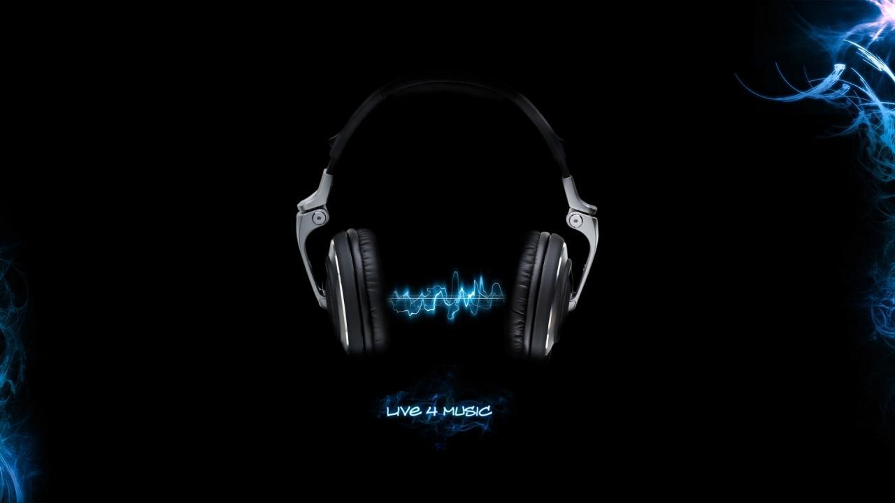1920x1080 Music Backgrounds   Headphones Music Black Background Fresh New HD Wallpaper Best Quality .