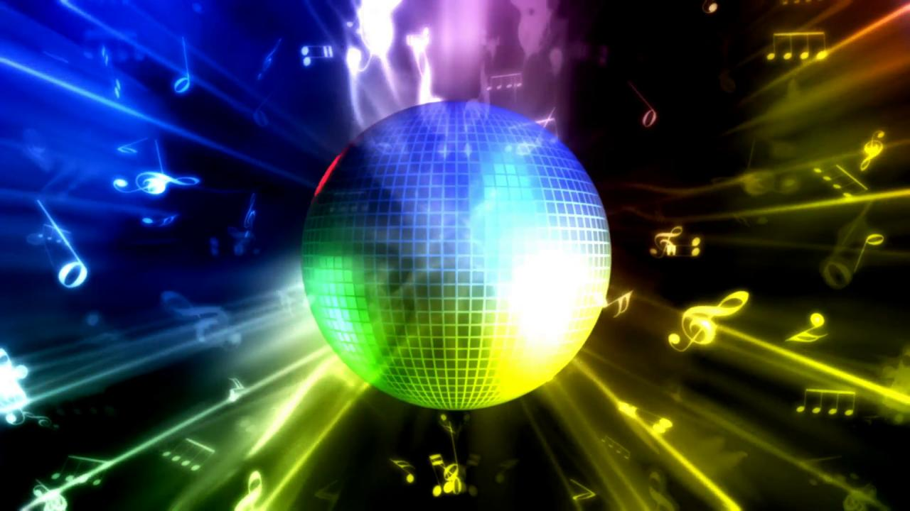 1920x1080 Disco Ball Looping Music Background