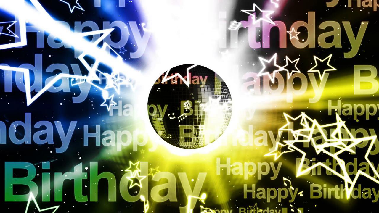 1920x1080 Happy Birthday Music Looping Animated Background