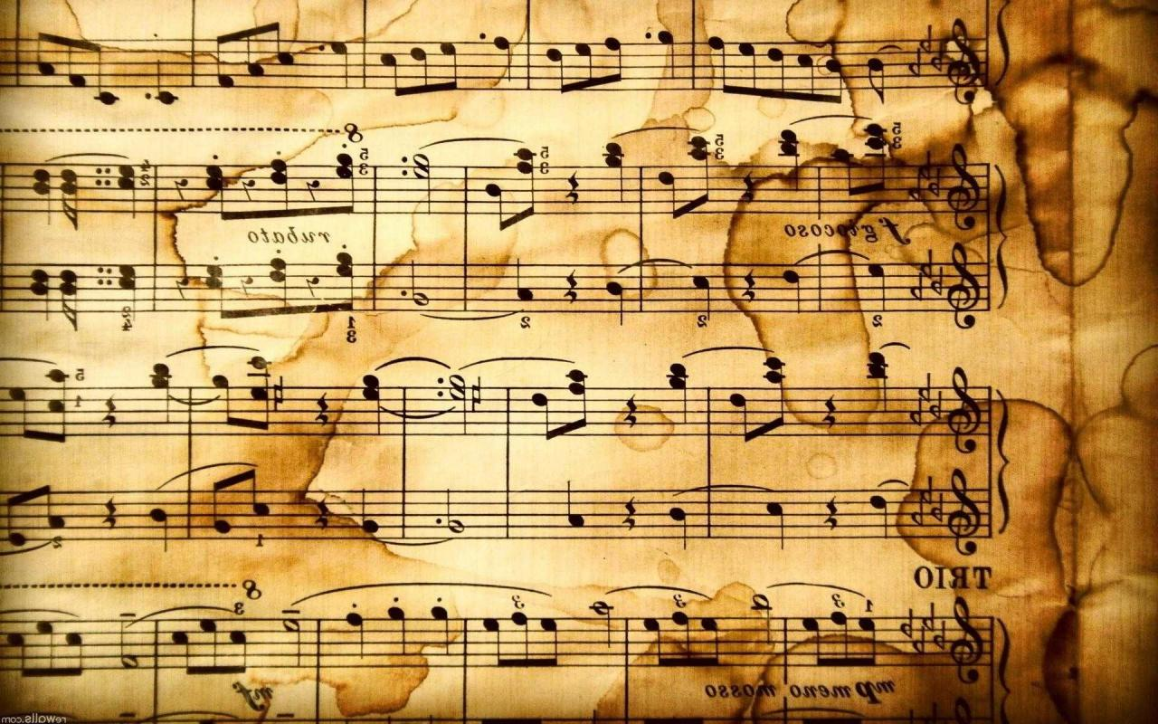 1920x1200 1920x1200 Full Hd Of Rustic Music Notes Wallpaper Desktop