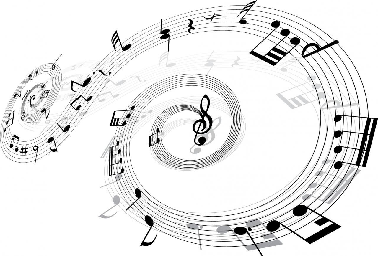 2044x1389 Desktop Wallpaper Musical Note Sheet Notes Transprent - Music Notes Swirl  Pillow Case (2084x1667)
