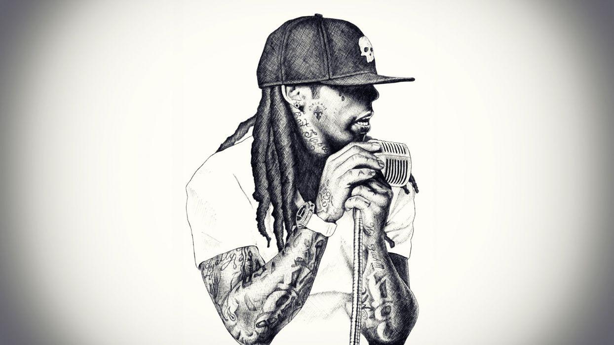 1244x700 Singer rap microphone rap lil wayne rapper hip hop wallpaper