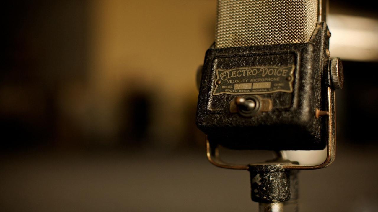 1920x1080 Microphone Vintage Old Music