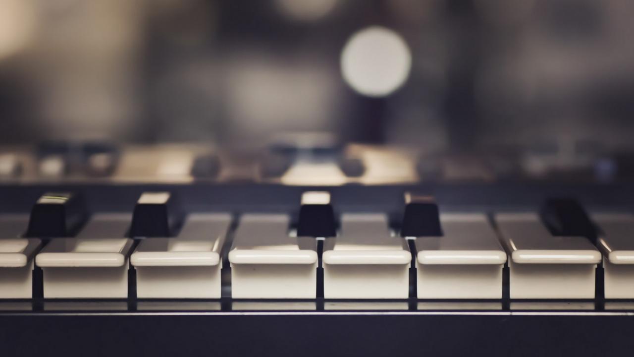1920x1080  Wallpaper piano, music, keys, musical instrument